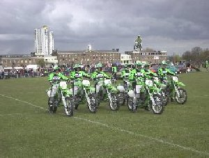 ROYAL ARTILLERY DISPLAY TEAM ALL BIKE'S HAVE PREDATOR EXHAUSTS