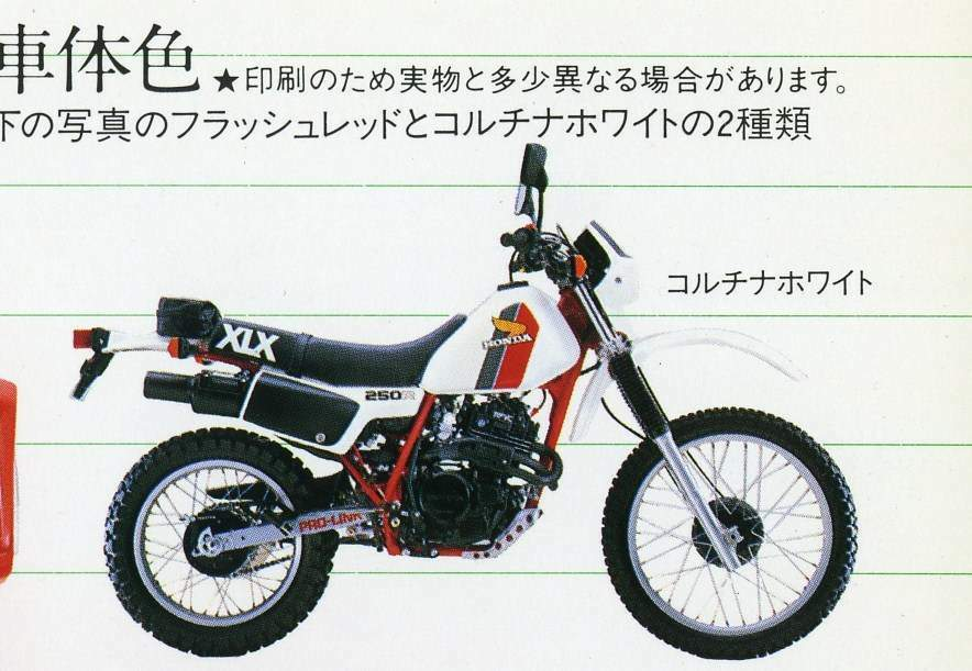 HONDA XLX250R (MD08) 1983-PARTS
