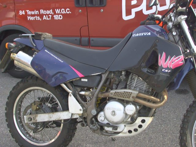 CAGIVA WIND 350 SILENCER ABOUT 10 YEARS AGO!