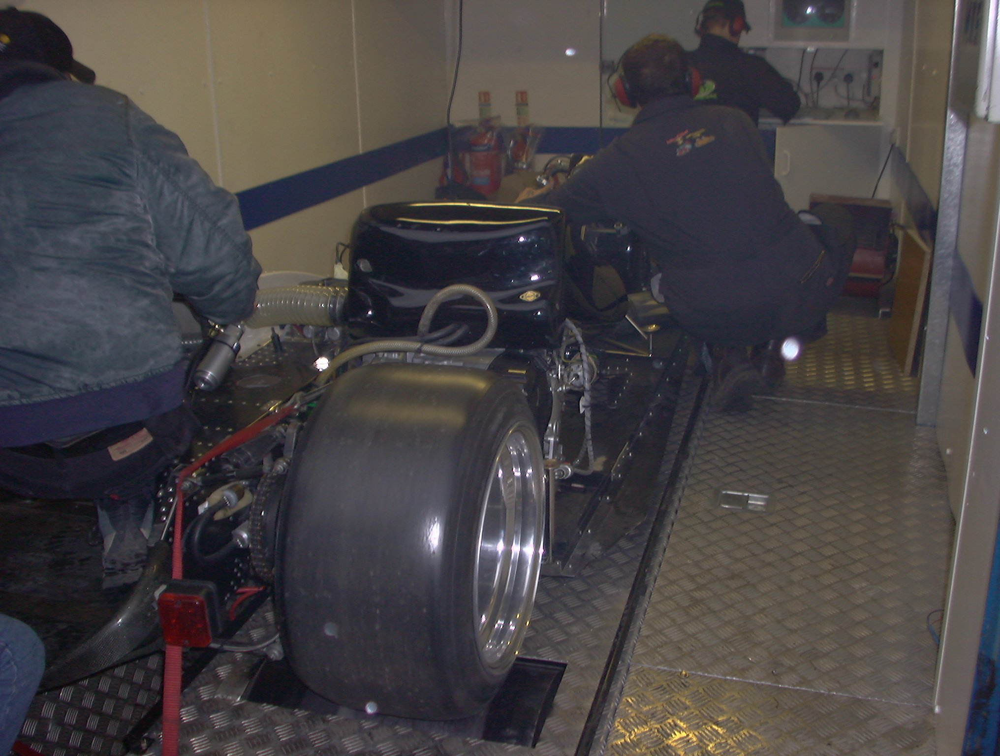 M & M F2 SIDECAR OUTFIT FLAT OUT ON DYNO GOD THE SOUND!