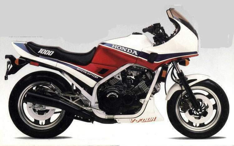 HONDA VF1000F INTERCEPTOR PARTS