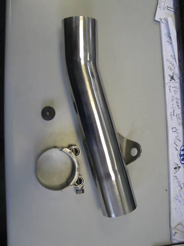 "HONDA CBR600 FH-FL 87-90 EXHAUST TO SILENCER LINK PIPE 50.8mm (2"")"