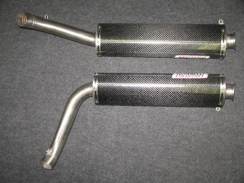 DUCATI 916 & DUCATI 996 PURE CARBON SILENCERS With sports baffles (PAIR)