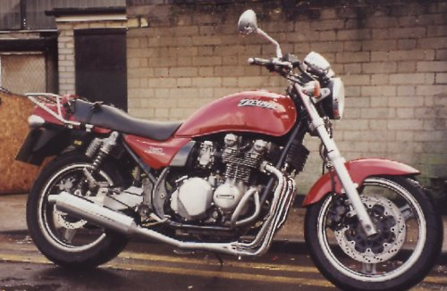 KAWASAKI ZR750 ZEPHYR 4-1 ROAD SYSTEM IN POLISHED STAINLESS