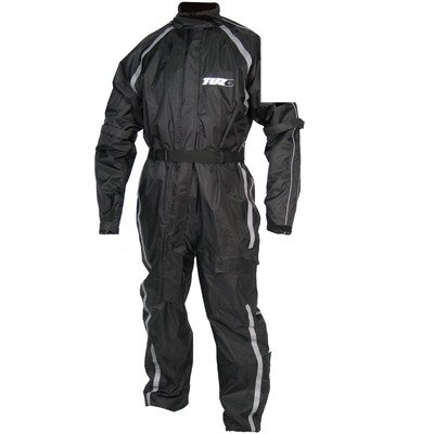 TUZO MEN'S ONE-PIECE WATERPROOF STORM SUIT BLACK - LARGE