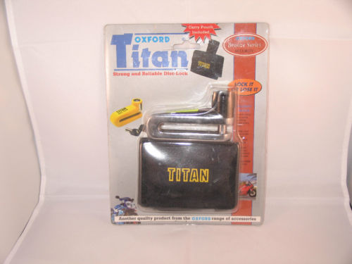 Oxford Titan Chrome Disc Lock with Carry Pouch 10mm Pin New ! Clearance