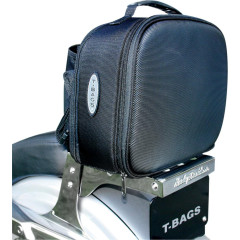 T-BAGS STOW-AWAY BAG TEXTILE BLACK