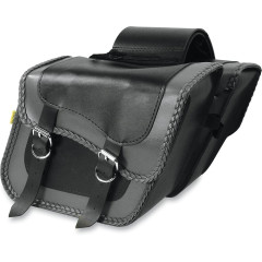 WILLIE & MAX GRAY THUNDER BRAIDED SLANT SADDLEBAG