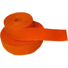 "CYCLE PERFORMANCE WRAP KIT EXHAUST 2"" X 25' WITH TIE ORANGE/BLACK"