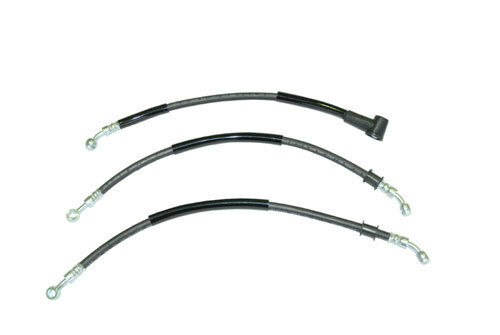 HONDA CBX1000 (79-80) FRONT BRAKE HOSES SET (LOW HANDLE BAR) 3pc