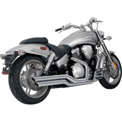 HONDA VTX1800C, HONDA VTX1800N 2001-2008 EXHAUST BIG SHOTS STAGGERED CHROME