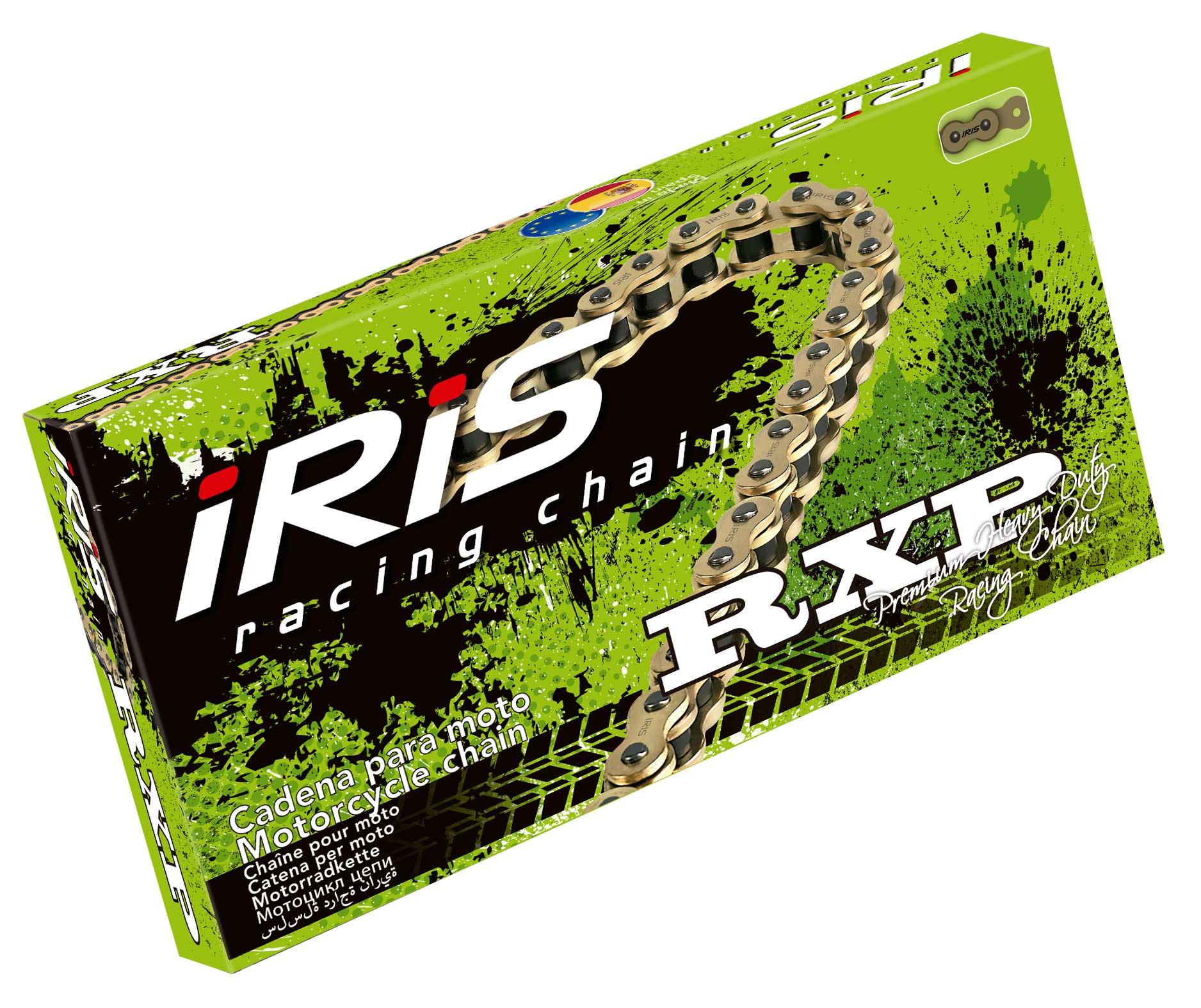 CHAIN IRIS 420RXP-106 SUPER HEAVY CHAIN FOR MX (GOLD)