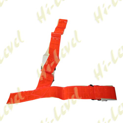 SAM BROWNE BELT MEDIUM RED FLUORESCENT