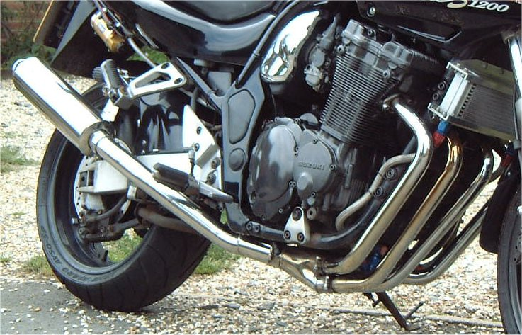 SUZUKI GSF600S, X, BANDIT (95-99) 4-1 SYSTEM ROAD IN BRUSHED STAINLESS