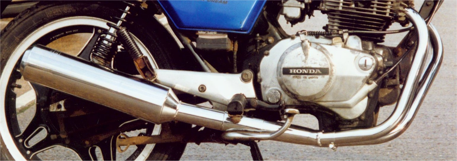 HONDA CB400T Dream up to 78 2-1 System ROAD/SPORT WITH R/B BRUSH FINISH