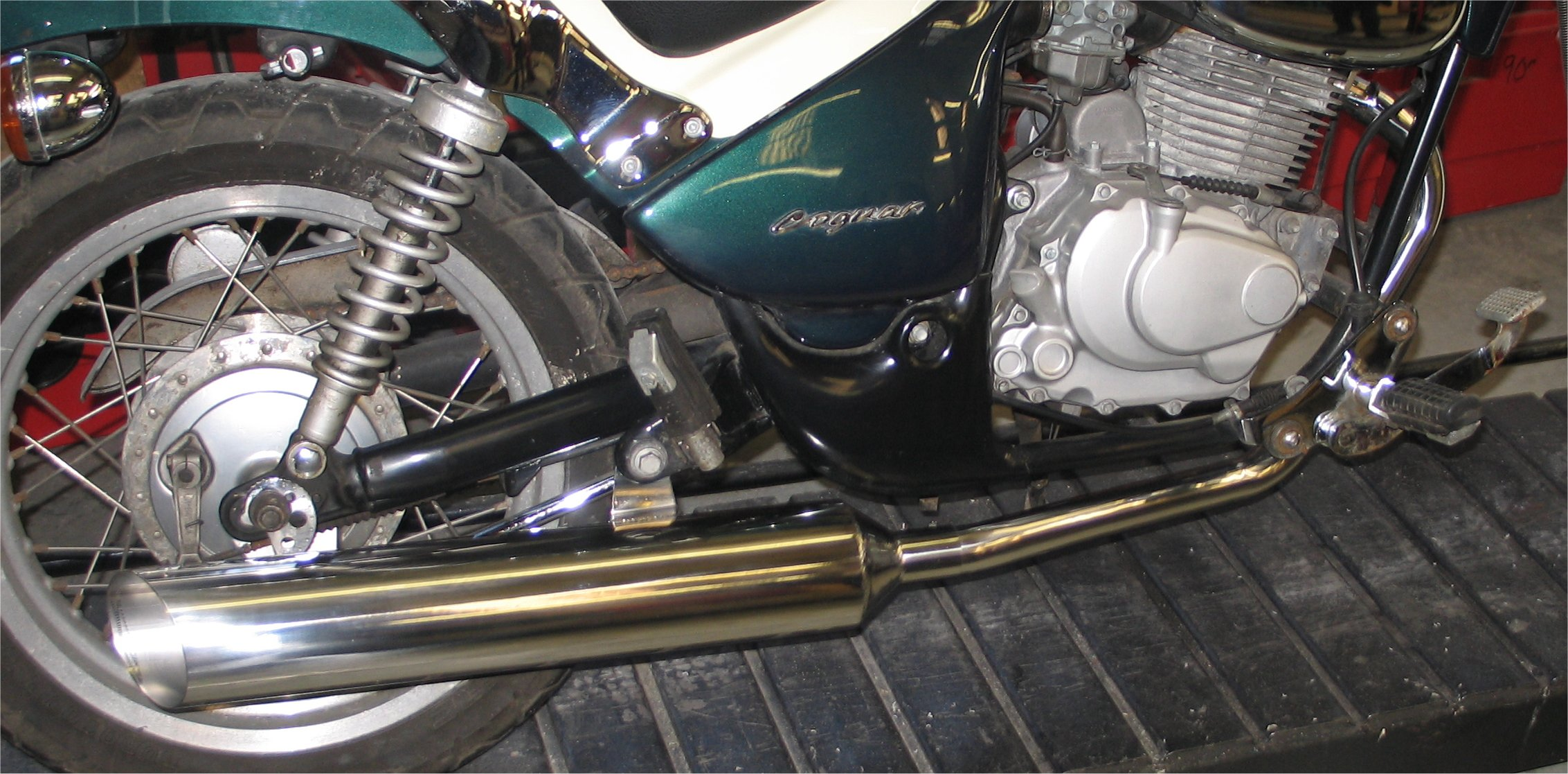 GILERA COOGAR PREDATOR SPORTS EXHAUST SYSTEM IN POLISHED STAINLESS STEEL