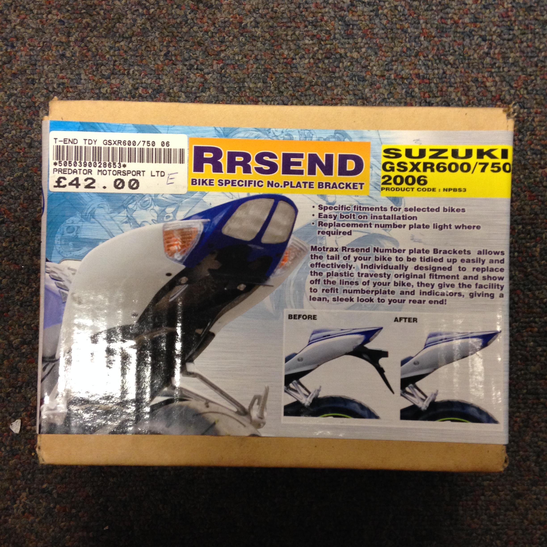 SUZUKI GSXR 600 750 2006 MOTRAX RRSEND NUMBER PLATE BRACKET