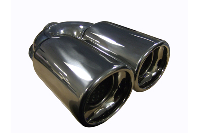"""TAIL PIPE Twin 3.5"""" x 3"""" tail Twin 3.5"""" x 3"""" Tail. 180mm wide, 235mm long, 57mm inlet"""