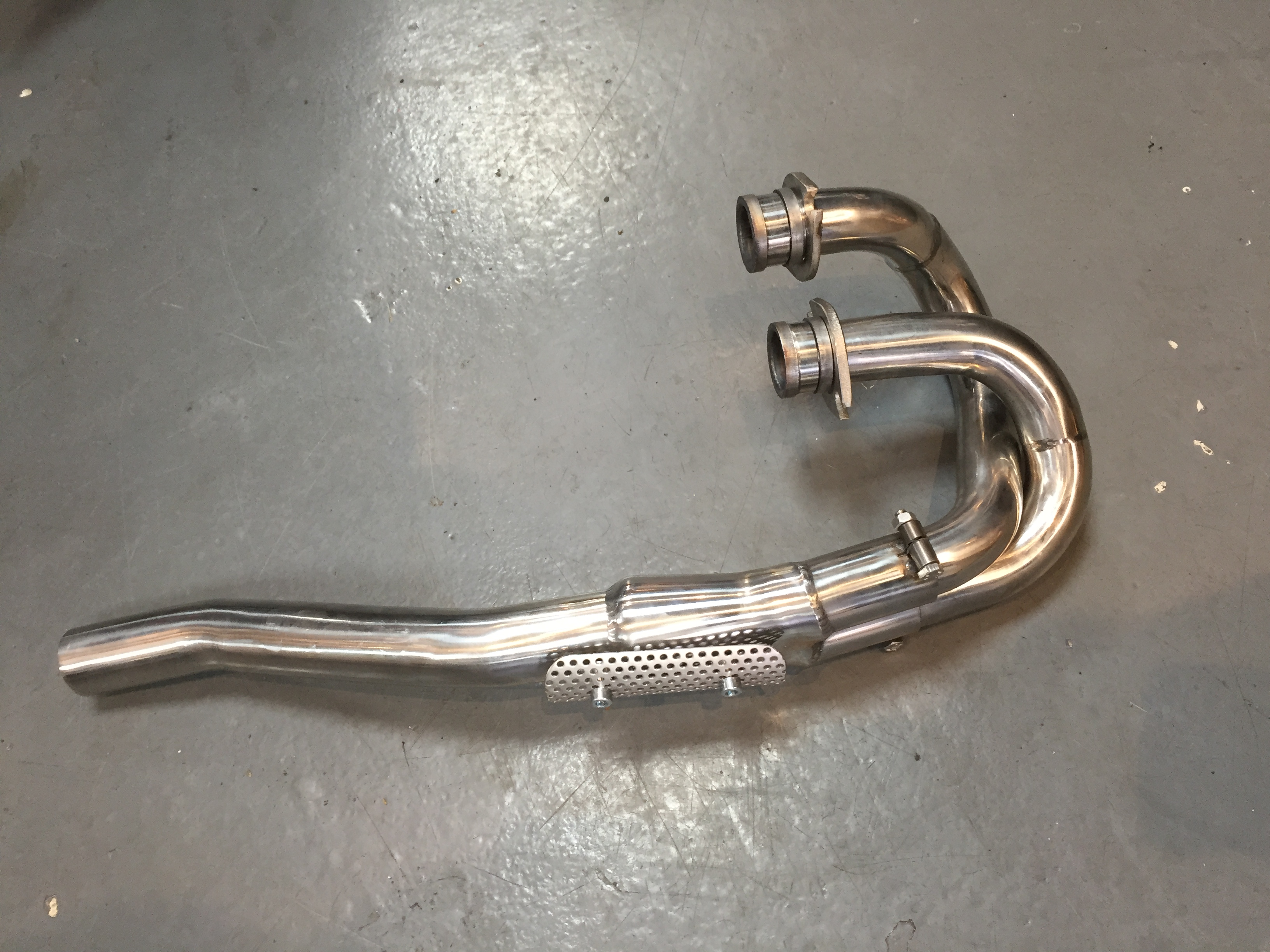 * NEW* HONDA XLX250R (MD08) 1983- PREDATOR FRONT EXHAUST PIPEWORK S/STEEL *NEW*