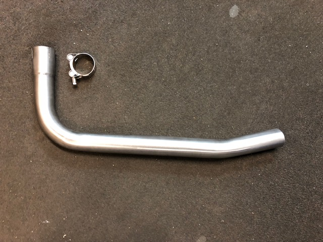 HONDA PC800 PACIFIC COAST BOTTOM FRONT DOWN PIPE IN BRUSHED STAINLESS