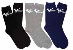 MOTOGP EVERYDAY COTTON MIX GP SOCKS ( 3 PAIR MULTI PACK BLACK/BLUE/GRAY)