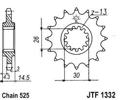 1332-15 FRONT SPROCKET CARBON STEEL