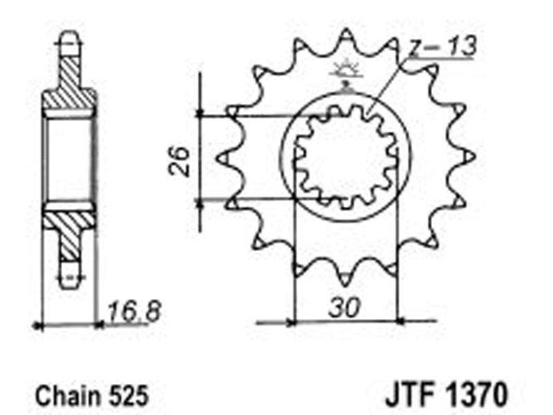 1370-15 FRONT SPROCKET CARBON STEEL