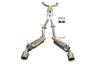 Nissan 350Z Cat back PERFORMANCE EXHAUST SYSTEM IN POLISHED STAINLESS STEEL