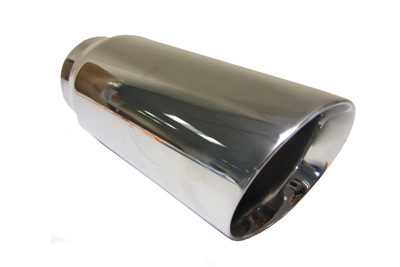 TAIL PIPE JAP Double skinned Slash Cut Polished double skinned slash cut tailpipe. Diameter 3.0in. Length aprox 6in