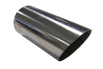 "TAIL PIPE 4"" Round Slash Cut 101mm (4 inch)Round Mitre Slash Cut"