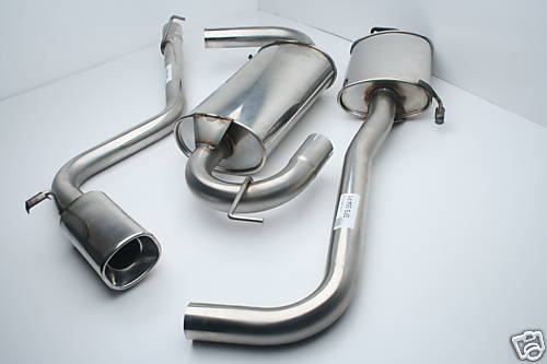 ALFA ROMEO GTV 1.8 and 2.0 petrol modes STAINLESS STEEL EXHAUST SYSTEM with 120mm X 90mm Oval Tail Pipe