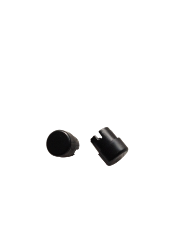 HANDELBAR END PLUGS 15mm (BLACK) PAIR