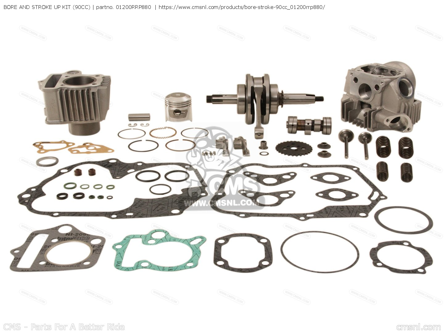 HONDA C50, C70, BORE AND STROKE UP KIT (90CC)