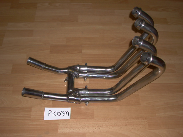 KAWASAKI ZL600 ELIMINATOR FRONT PIPES WITH COLLECTORS POLISHED STAINLESS