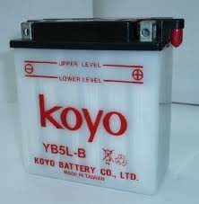 MOTORCYCLE BATTERY CB5L-B (YB5L-B) HIGH PERFORMANCE 12V