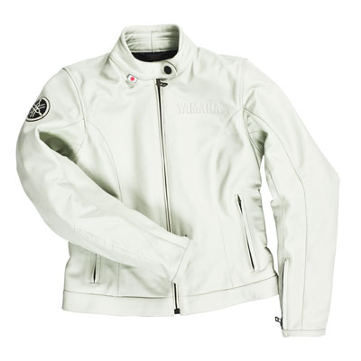 YAMAHA IWATA LADIES LEATHER JACKET WHITE - SIZE 50