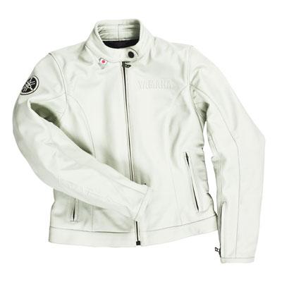 Yamaha Iwata Ladies Leather Jacket Cream size- 50