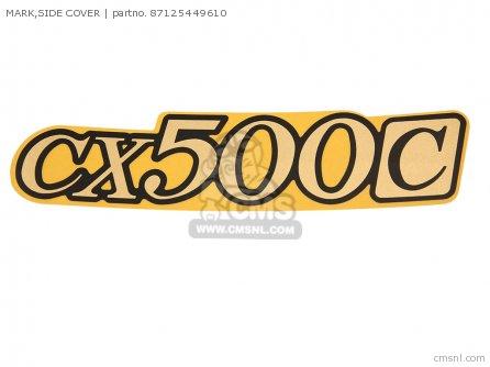 Honda Parts Side Cover Sticker L or R Cx500c 1980 87125-449-610