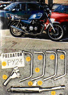 YAMAHA XJ750 ALL MODELS PREDATOR 4-1 EXHAUST SYSTEM ROAD LEGAL