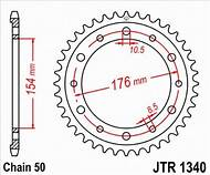 1340-43 REAR SPROCKET CARBON STEEL