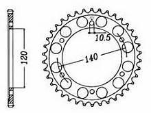 499-38 REAR SPROCKET CARBON STEEL