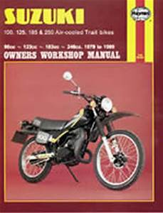 HAYNES MANUAL, SUZUKI MANUAL, SSUZUKI TS100 MANUAL, SUZUKI