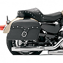 SADDLEMEN SADDLEBAG MIDNIGHT EXPRESS SLANT SYNTHETIC EXTRA JUMBO BLACK CHROME