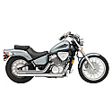 HONDA VT600C SHADOW, HONDA VT600CD SHADOW DELUXE 1988-2007 EXHAUST SYSTEM STREET ROD 2 INTO 2 STRAIGHT-CUT CHROME