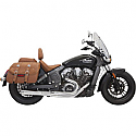 INDIAN SCOUT 69 ABS, INDIAN SCOUT 60 ABS SIXTY 2015-2016 EXHAUST SYSTEM ROAD RAGE 2-INTO-1 WITH SHORT CHANGE MEGAPHONE MUFFLER CHROME