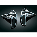 HONDA GL1800 GOLDWING, GL1800 ABS GOLDWING, GL1800 ABS GOLDWING AIRBAG, GL1800 GOLDWING AUDIO COMFORT 2001-2010 FRONT SADDLEBAG SKUFF PROTECTORS CHROME