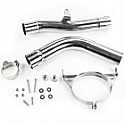 "HONDA CBR600RR 2007-12 EXHAUST TO SILENCER LINK PIPE 50.8mm (2"")"