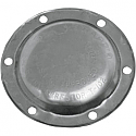 """SUPERTRAPP END CAP CLOSED (FOR 4"""" DISCS) POLISHED STAINLESS STEEL"""