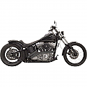 H/D FLST, FXST EXHAUST RADIAL SWEEPERS BLACK