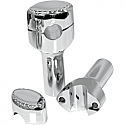"LA CHOPPERS RISERS DRILLED FOR 1"" HANDLEBARS 4"" RISE CHROME UNIVERSAL"